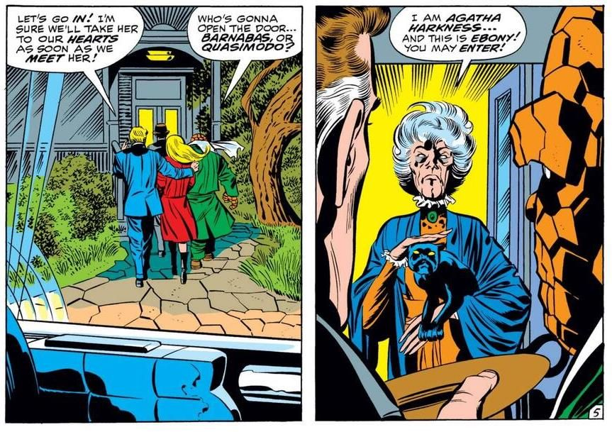 agatha made her debut as the Fantastic Four's nanny!