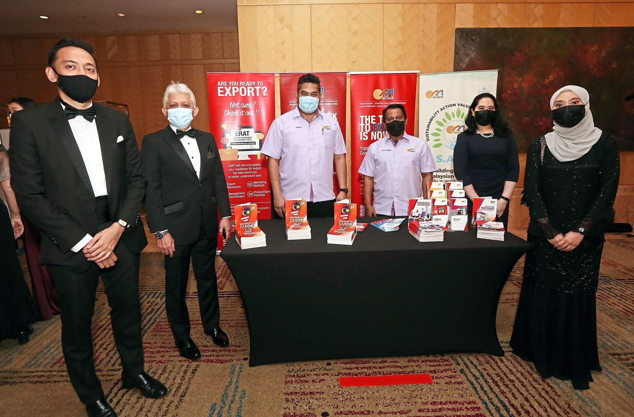 Proud partner: Mohd Mustafa (second from left), pictured with his team, says that as the national promotion agency of Malaysia, Matrade is proud to be a part of SOBA as a witness to the achievements of participating Malaysian companies, especially homegrown companies, in successfully entering international markets.