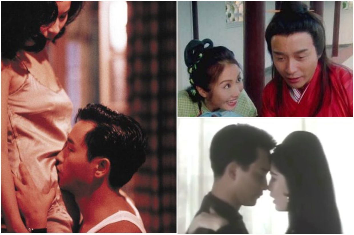 Actresses (clockwise from left) Carina Lau, Gigi Lai and Vivian Chow posted photos from movies they acted in with Leslie Cheung. Photos: Instagram