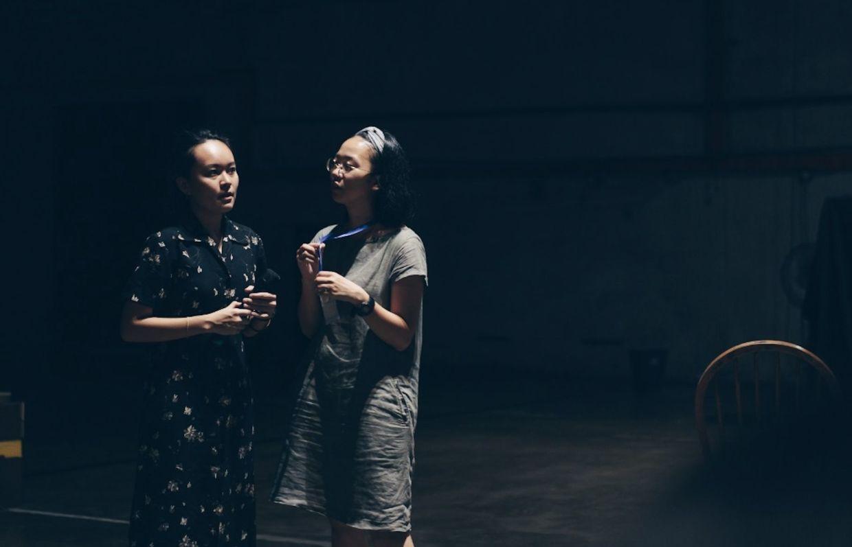 Seni Tiga's assistant producer Mah Jun Yi (left) with fellow assistant producer Low Pey Sien. Photo: Niko Ling