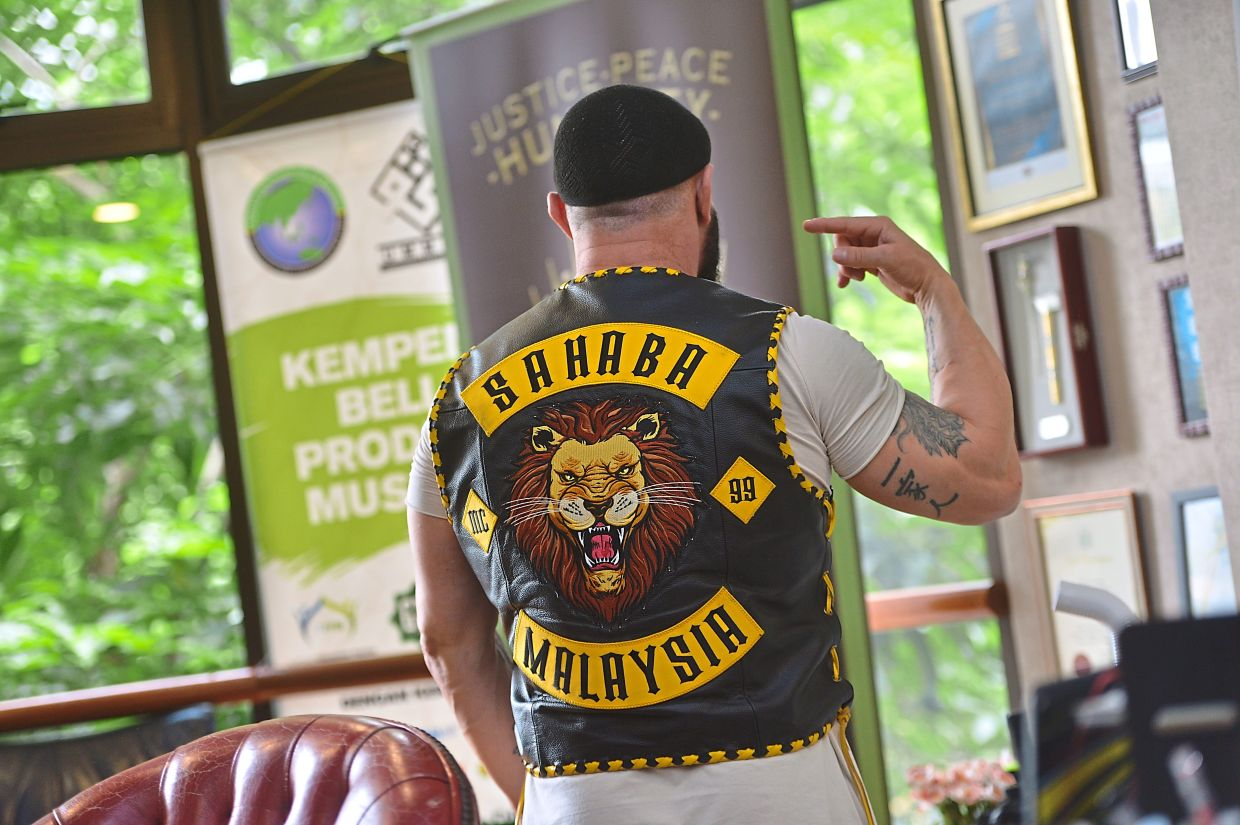 The patches on his vest represent a brotherhood, not a gang of criminals, says Focarelli.