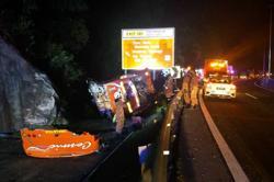 Fourteen injured as express bus skids, crashes on NSE near Menora Tunnel