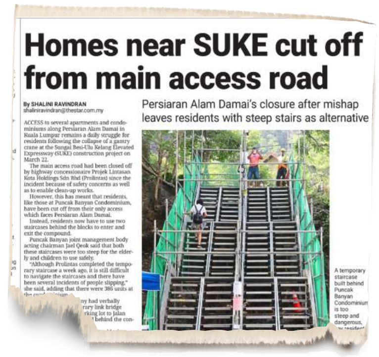 StarMetro's article on April 3, reporting the problems arising from the road closure.