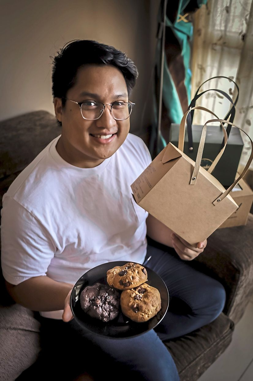 Rasyiq says that although the online cookie market  is becoming more saturated, demand is still so high that most cookie-makers cannot keep up. — SYED SYAFIE RASYIQ