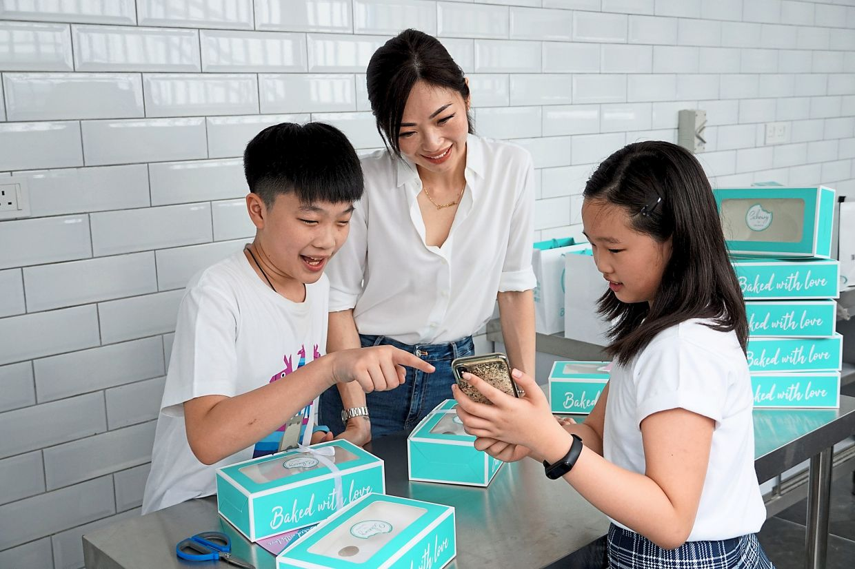 A former makeup artist, Lim lost her job during the MCO and started baking cookies as a business as she wanted to inspire her kids to never give up.  — SAMANTHA LIM