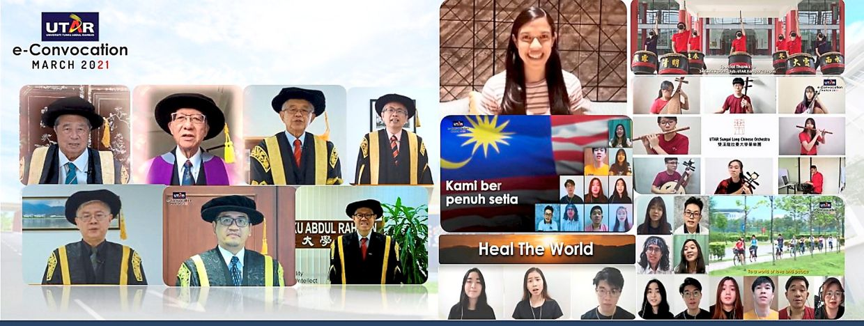 The UTAR e-convocation ceremony was streamed live with Datuk Nicole David as a special guest.
