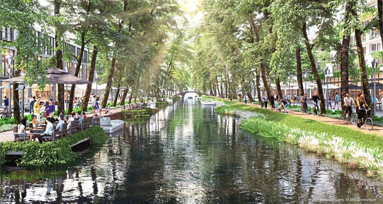The developments will be optimally clustered around public transport nodes which include water taxis that ply the canals within PSI – linking residentials and mixed commercial neighbourhoods.