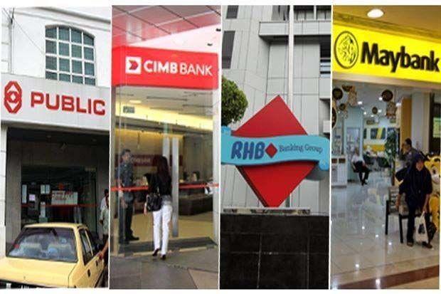 Banks Malaysian Maybank RHB, Public Cimb