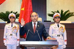 Former prime minister sworn in as president