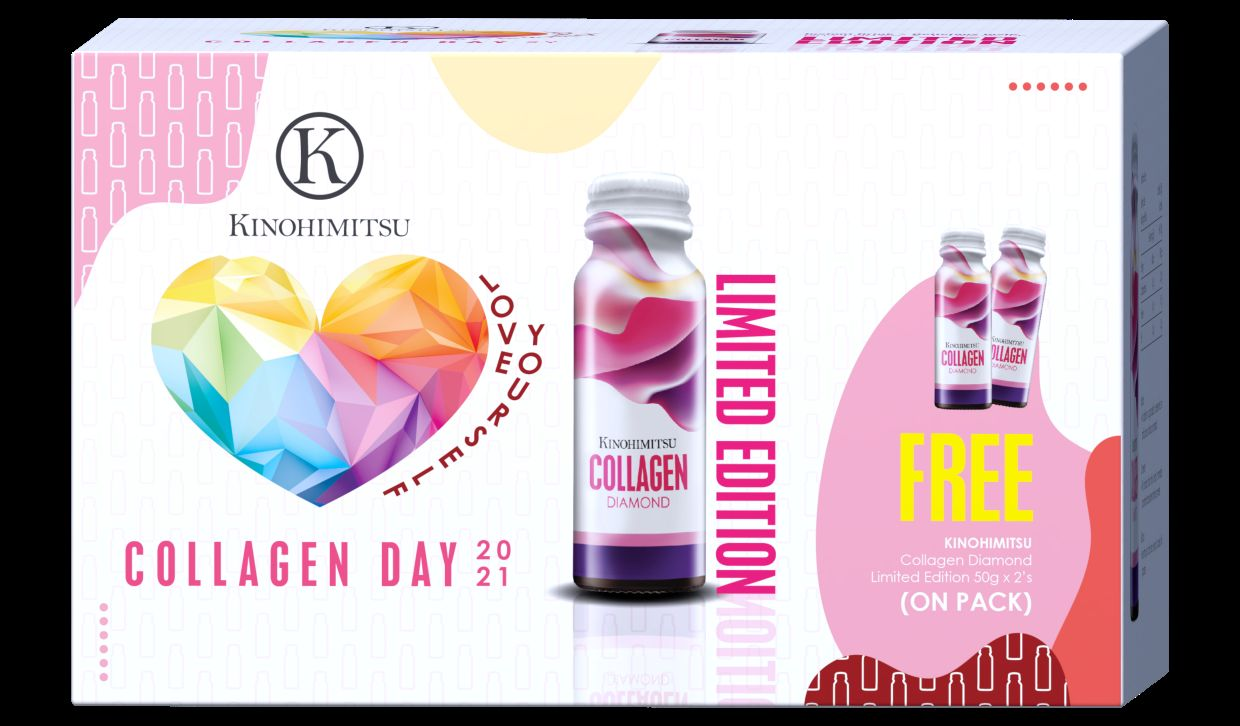 Kinohimitsu's bestselling product, in limited edition 2021 Collagen Diamond Collagen Day packaging, Collagen Diamond. — Kinohimitsu