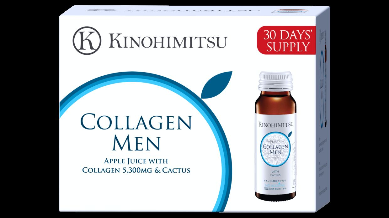 Kinohimitsu's collagen for men, which can help minimise pores and improve the appearance of scars. — Kinohimitsu
