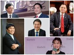 Six Vietnamese billionaires on Forbes list