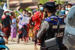 Myanmar security forces kill 7 protesters, Chinese-owned factory set ablaze