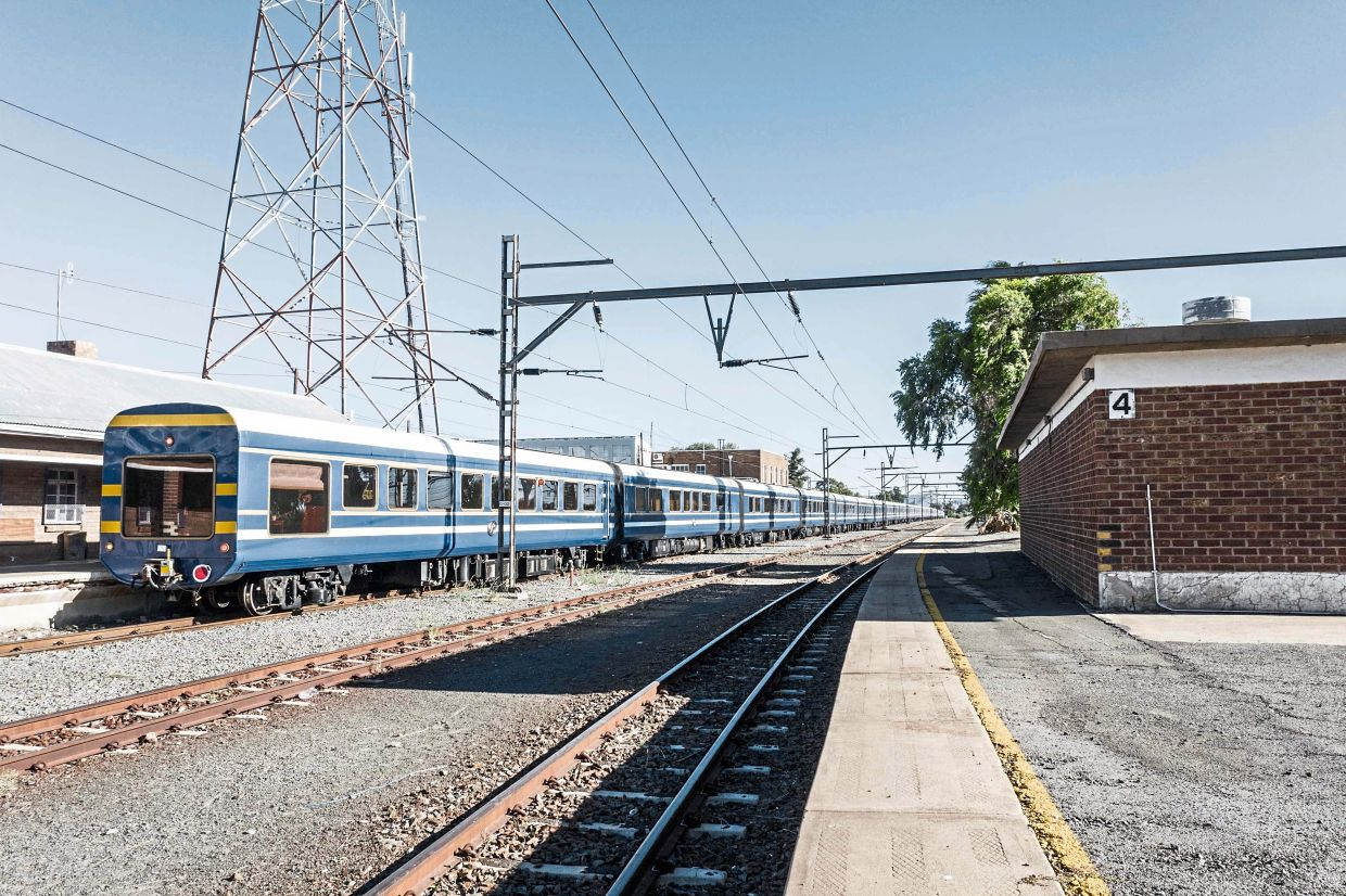 The Blue Train cuts across the Karoo desert and runs for 1,600km, or about 48 hours.