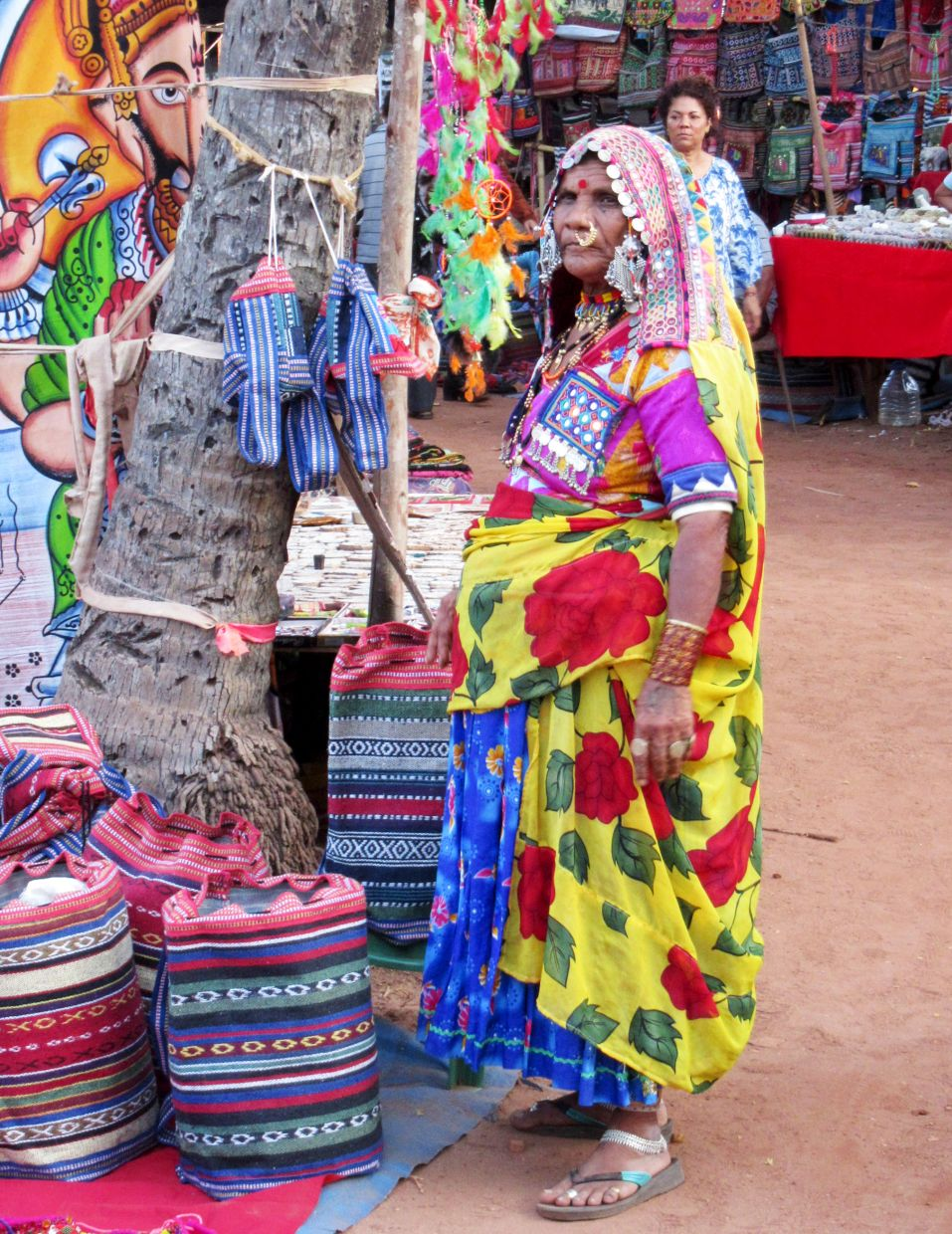 The Anjuna market, held on Wednesdays, is used to be known as the Hippie Market.