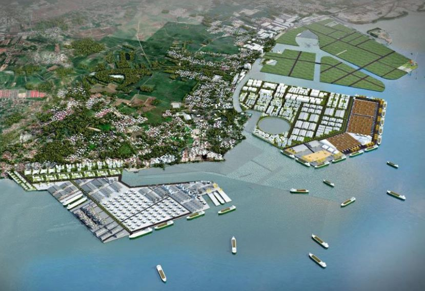 Artist impression of the proposed reclamation area
