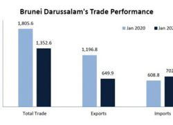 Brunei records 25.1-per cent trade drop in January