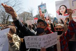 Protests break out after murder of kidnapped woman in Kyrgyzstan