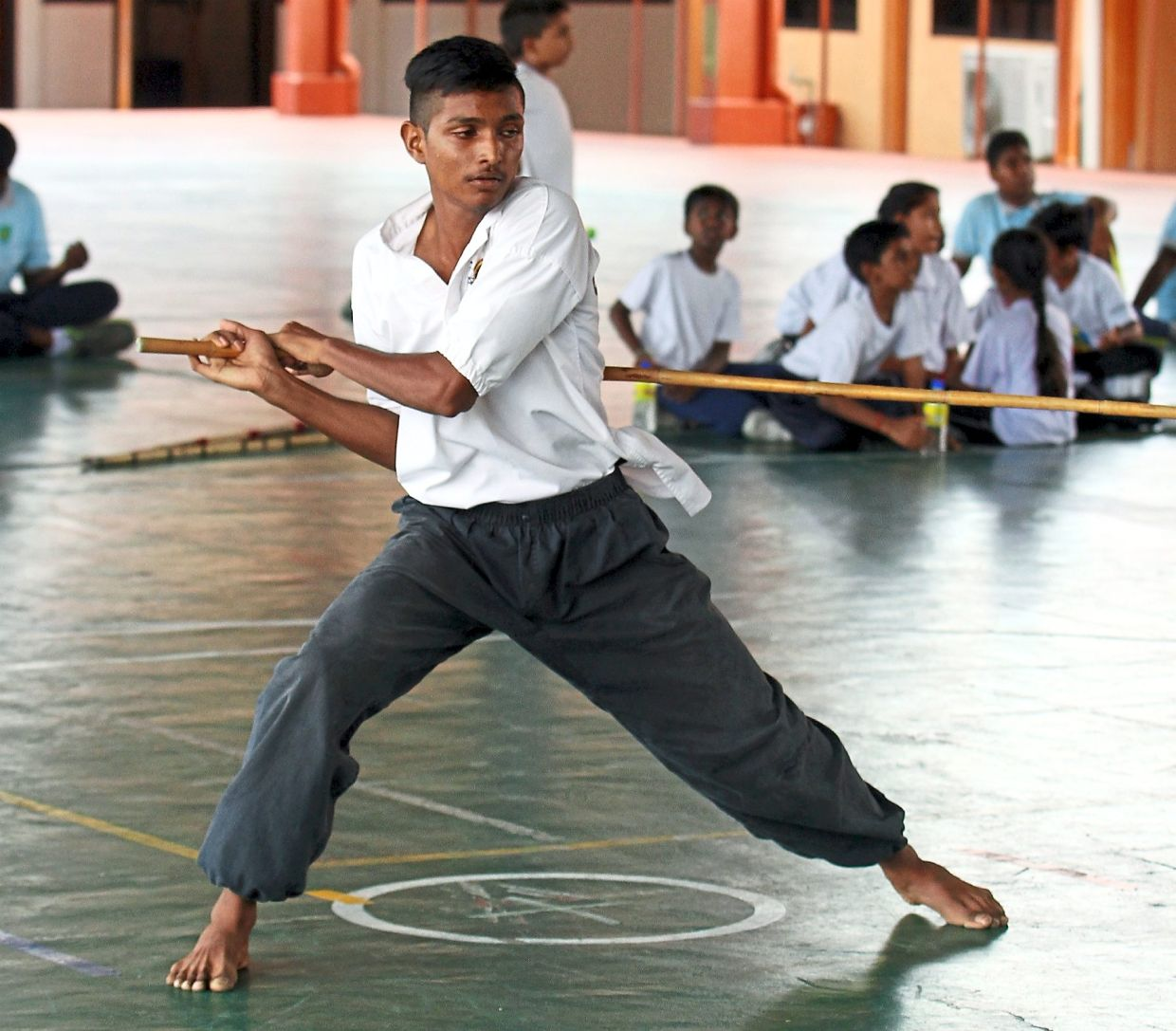 Silambam is a weapon-based Indian martial art originating in South India. - Filepic