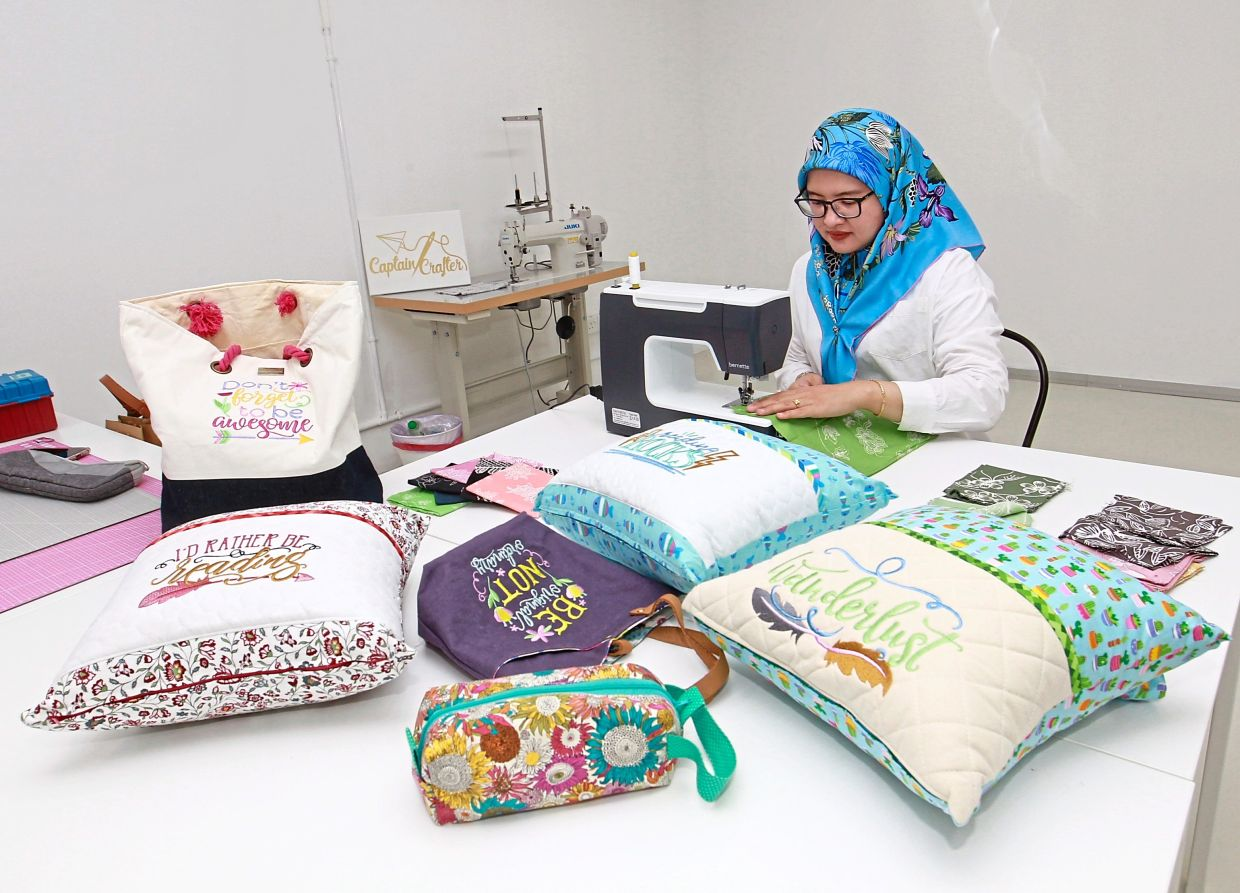 Hany stays  positive by  keeping herself busy learning  new skills.