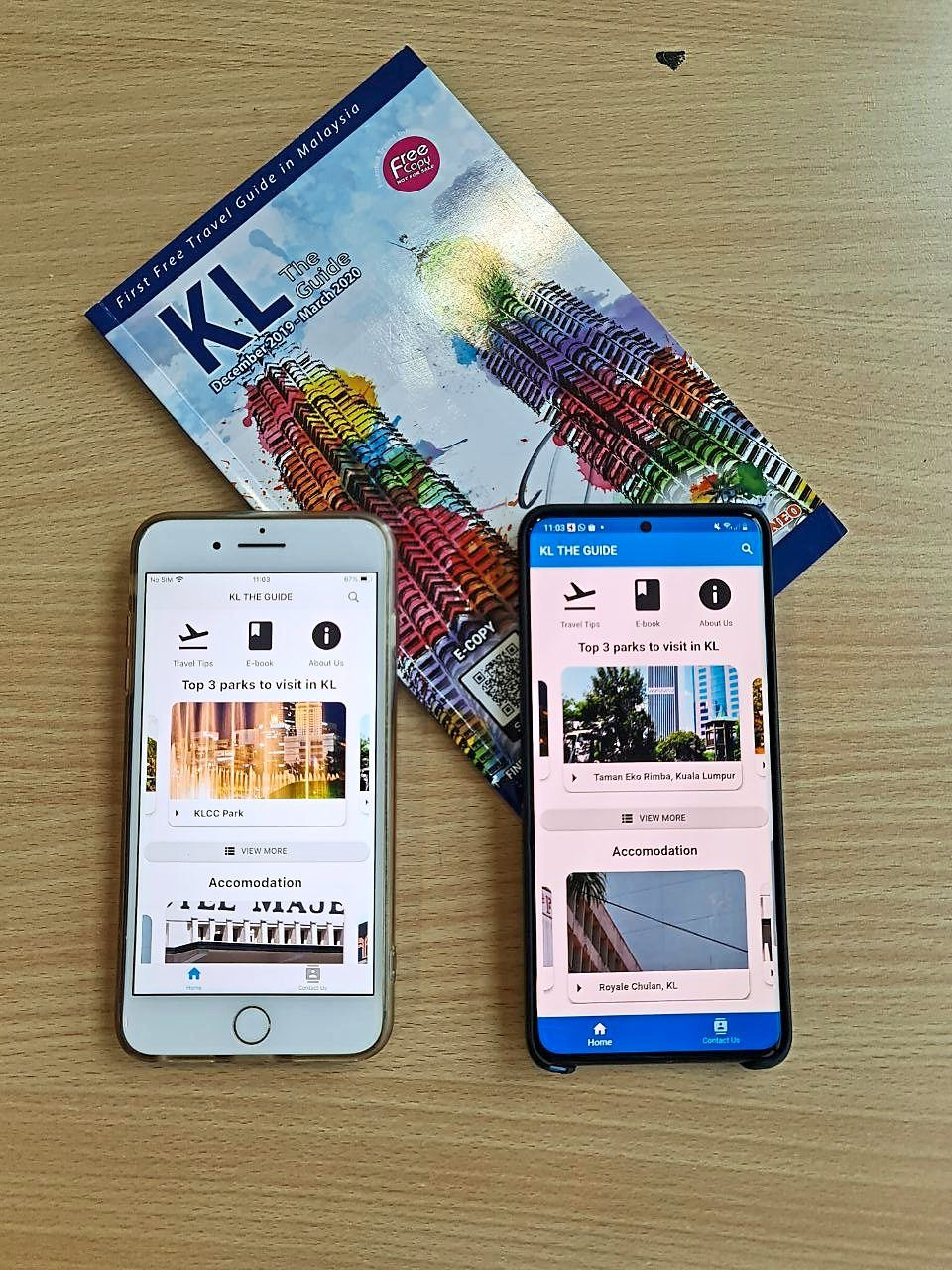 Bluedale's guide books have also been turned into mobile apps.