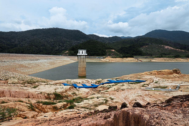 The Teluk Bahang Dam during the dry season last year. — Filepic