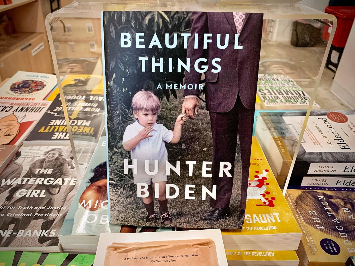 Hunter Biden confirmed in part in his memoir 'Beautiful Things' allegations by Republicans that he benefited from his family name when his father was vice president. — AFP