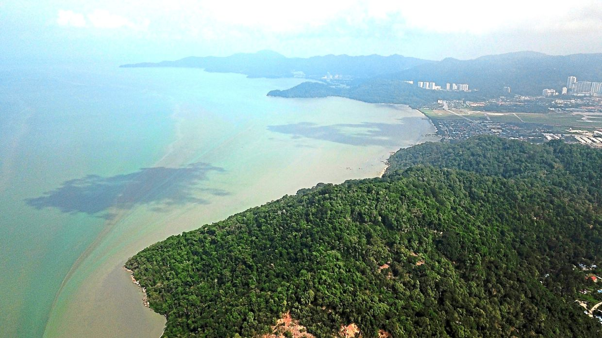 Massive project: An aerial view of Penang South Reclamation from Teluk Tempoyak.