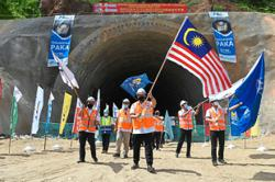 ECRL records first tunnel breakthrough in Paka ahead of schedule
