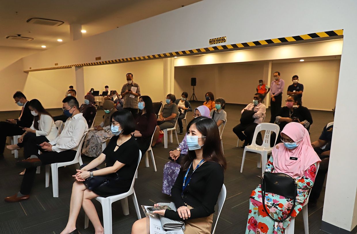 Attendees are all ears at the Women in Zcience 2021 event at Tech Dome in Komtar, Penang.