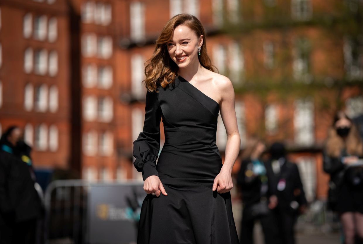 Phoebe Dynevor attends the 74th British Academy Film Awards in London, Britain, April 11, 2021. – Photo: BAFTA/Handout via Reuters