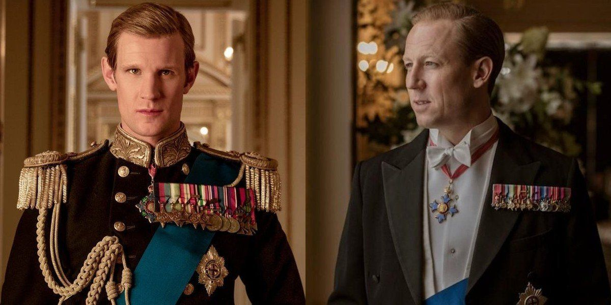 Matt Smith (left) and Tobias Menzies in 'The Crown'. Photos: Handout