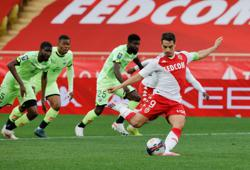 Soccer-Monaco keep up with Lille and PSG with Dijon win