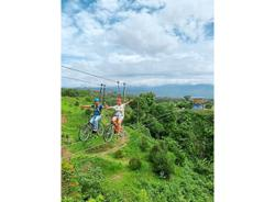 Extreme cyclists take to the skies in Sabah