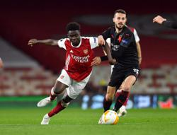 Arsenal's injury woes deepen as Saka limps off with thigh issue