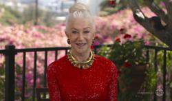 Like most of us, actress Helen Mirren also enjoys working from home