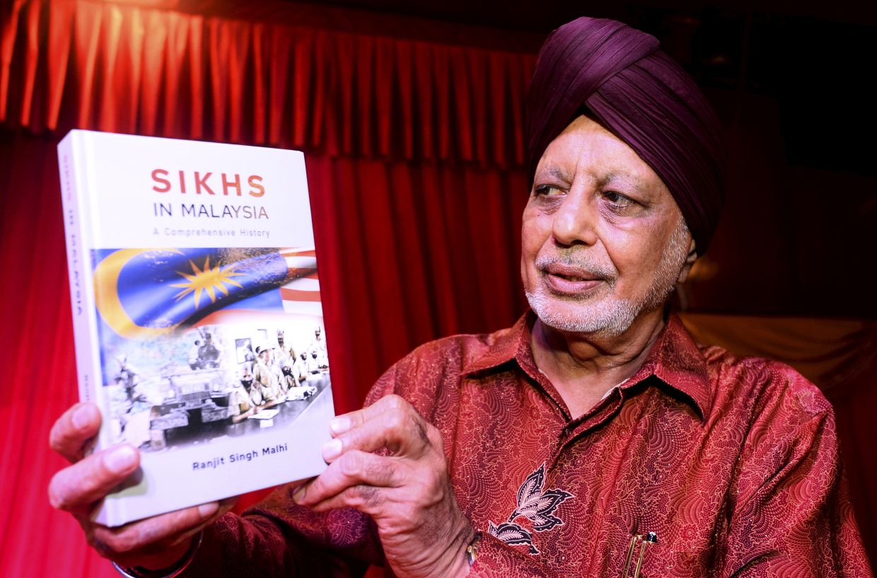 Ranjit's new book is based upon a decade's extensive archival research and interviews with more than 100 Malaysian Sikhs.  Photo: The Star/Azhar Mahfof