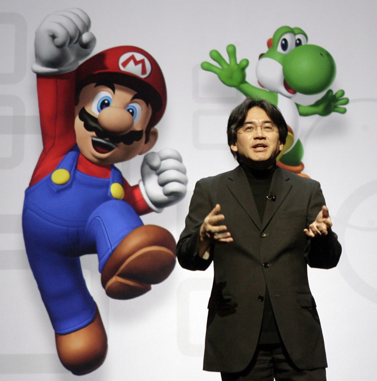 Throughout the book, Iwata outlines his vision for Nintendo Co, which was to offer entertainment that everyone in the family could enjoy, regardless of age, gender and game playing skills. — AP