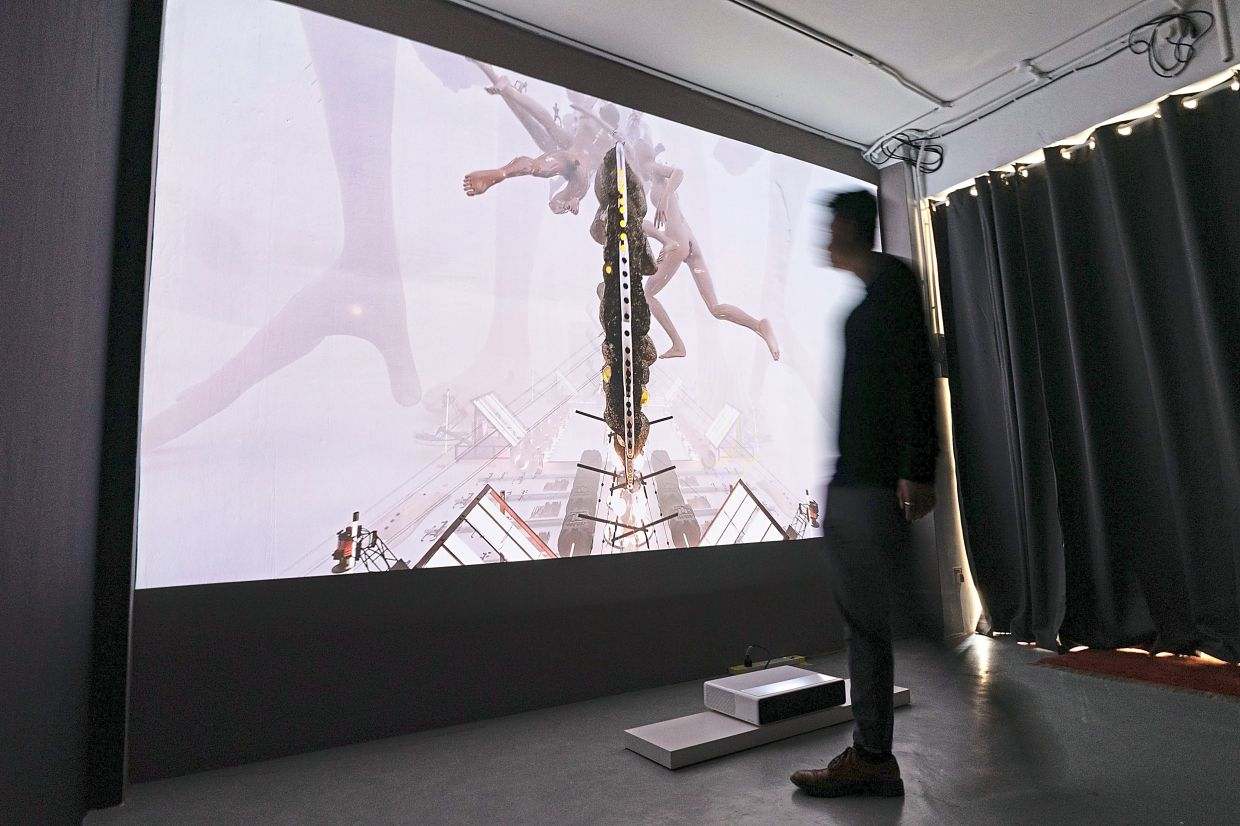 'FAC3D' is a self-funded and self-organised exhibition by Chuah and it is part of The Back Room Takeover 2021 programme. Photo: Handout
