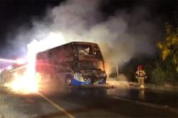 Thailand: Tour bus catches fire, five including two children perish