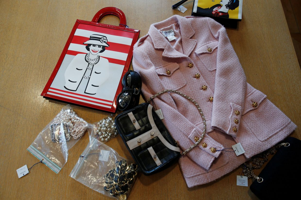 Pictured here are Chanel vintage outfits and accessories. Photo: Reuters