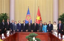 Vietnam's newly-elected President hosts Asean diplomats in Hanoi