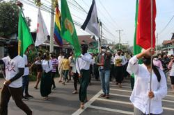 Myanmar activists stage