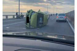 Penang Bridge jam caused by two accidents