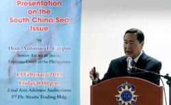 Philippines must exercise rights to build structures within EEZ in WPS: Carpio