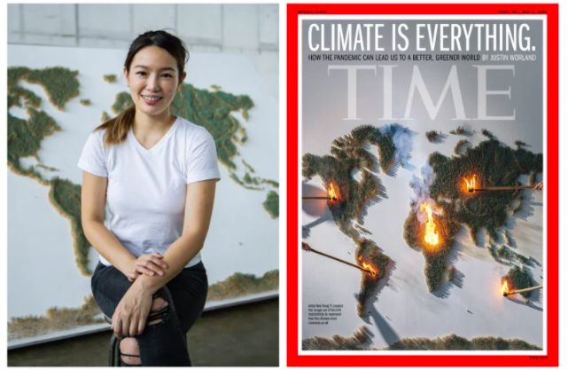 Malaysian artist's fiery artwork used for 'Time' magazine cover on climate change