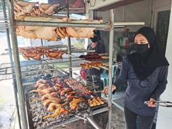 Bandung Walk bazaar enjoying brisk business