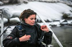 Sweden's only female oyster diver finds calm at sea