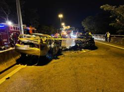 Driver who caused accident by driving against traffic flow still in a coma, say cops