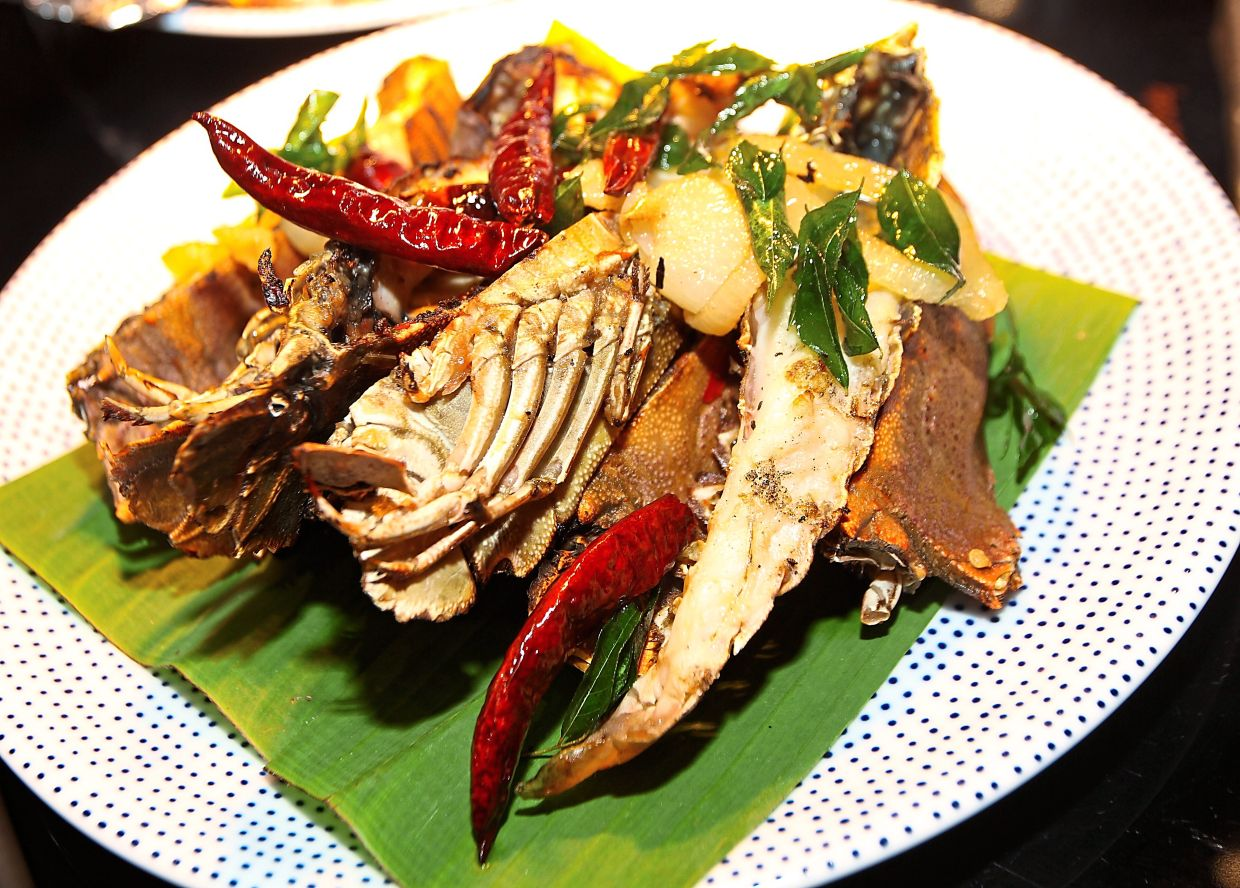Slipper lobster is among the grilled seafood available at Flock in W Kuala Lumpur.